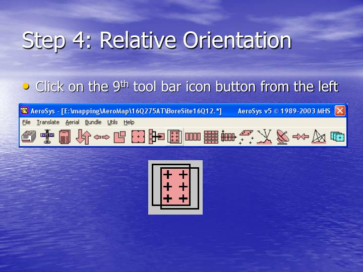 Step 4: Relative Orientation