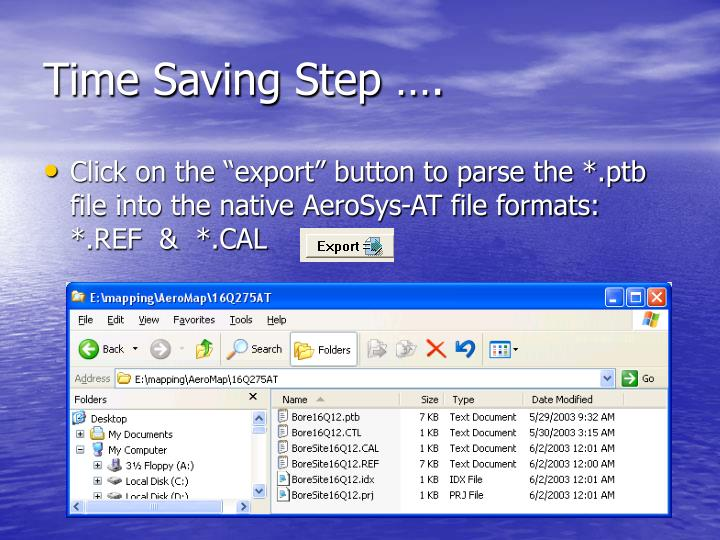 Time Saving Step ….