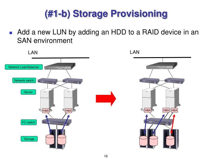 (#1-b) Storage Provisioning