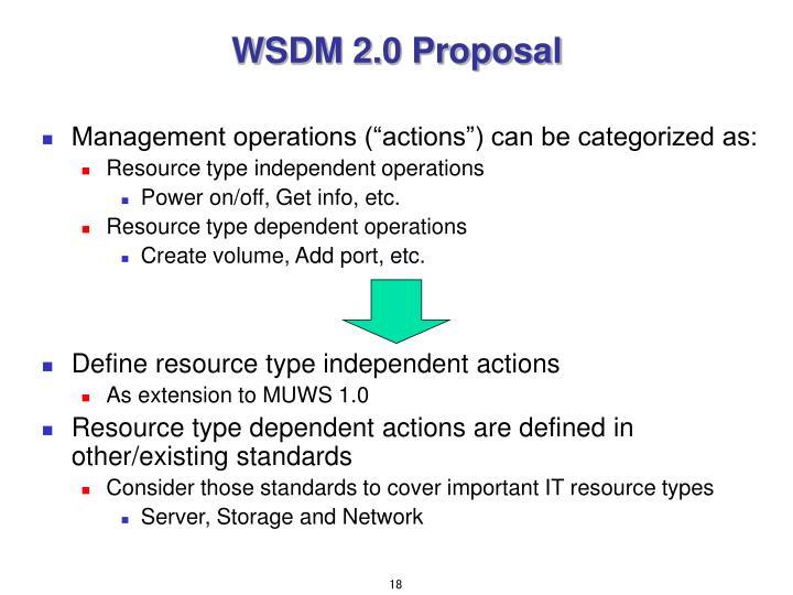 WSDM 2.0 Proposal