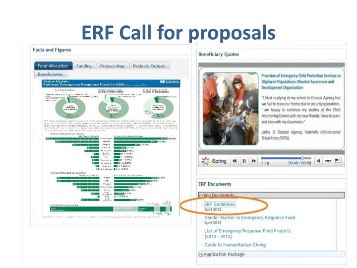 ERF Call for proposals