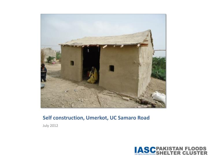 Self construction,
