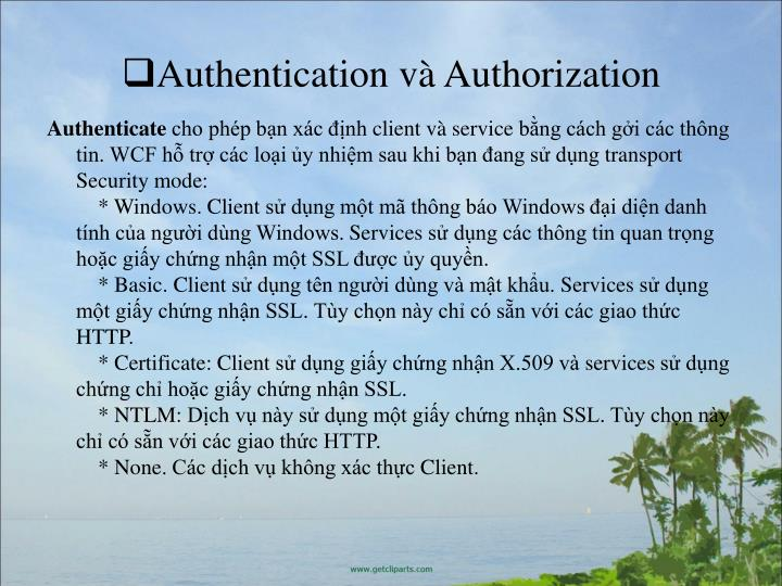 Authentication v Authorization