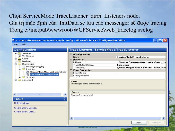 ChnServiceMode TraceListener diListenersnode.