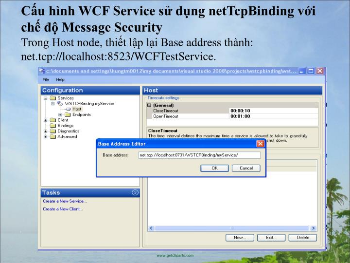 Cu hnh WCF Service s dng netTcpBinding vi ch  Message Security