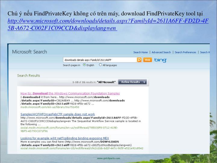 Ch  nuFindPrivateKeykhng c trn my,downloadFindPrivateKeytoolti