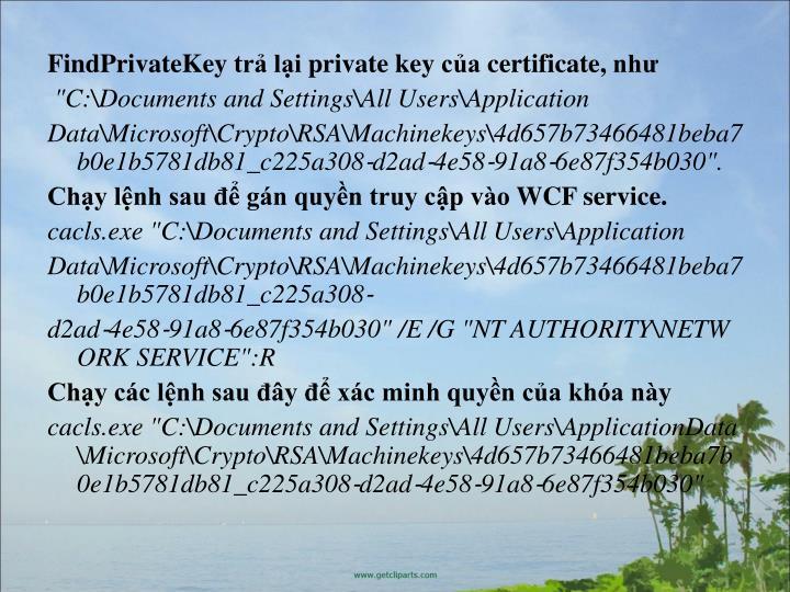 FindPrivateKeytr liprivatekeycacertificate,nh