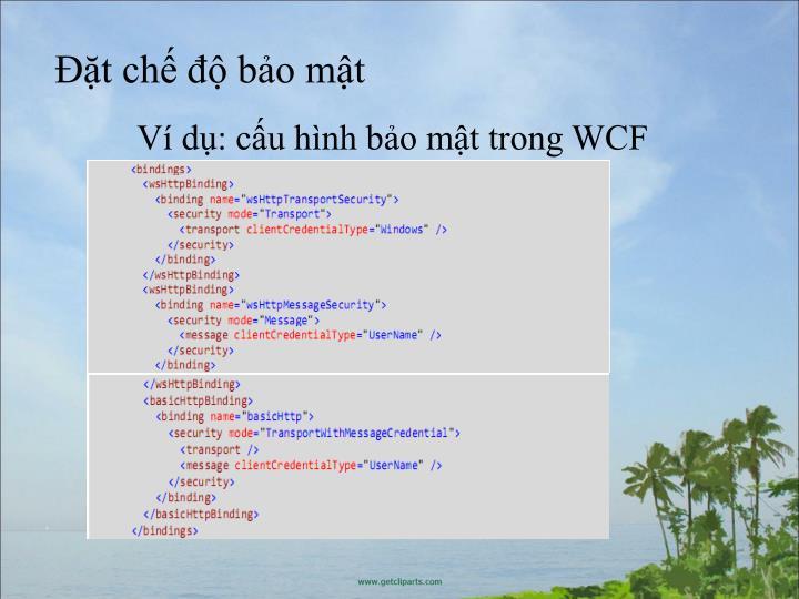 V d: cu hnh bo mt trong WCF