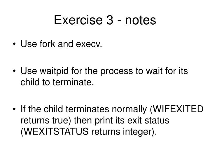 Exercise 3 - notes