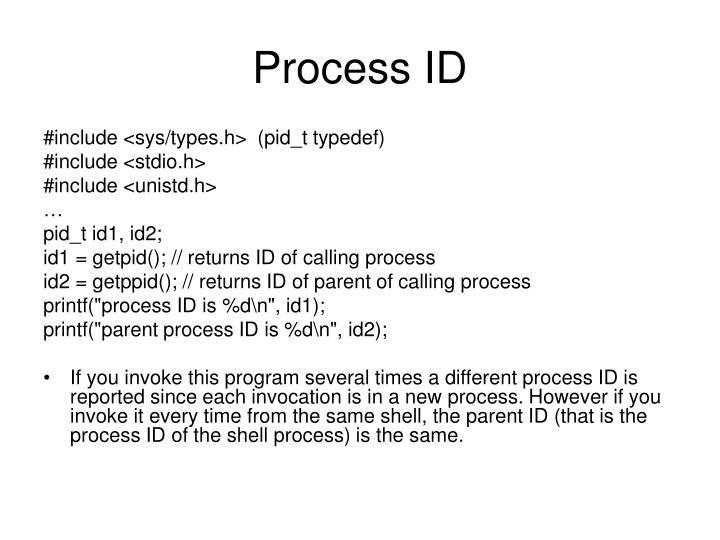 Process ID