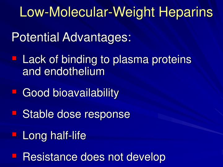 Low-Molecular-Weight Heparins