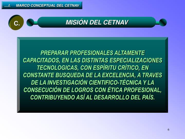 ....I.MARCO CONCEPTUAL DEL CETNAV