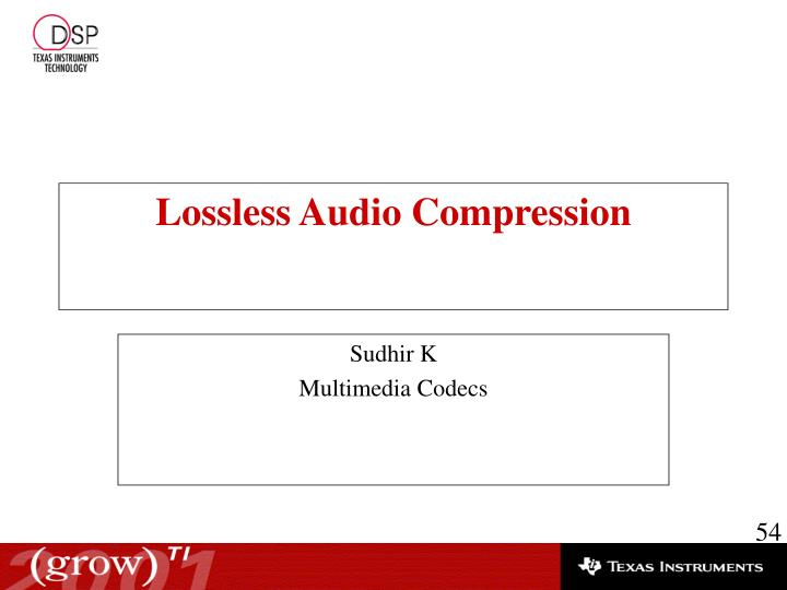 Lossless Audio Compression