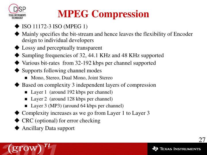ISO 11172-3 ISO (MPEG 1)