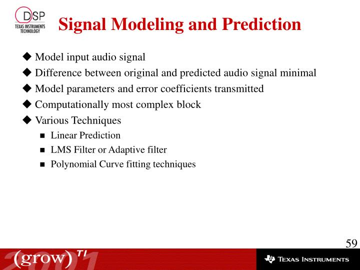 Model input audio signal