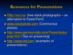 resources for presentations
