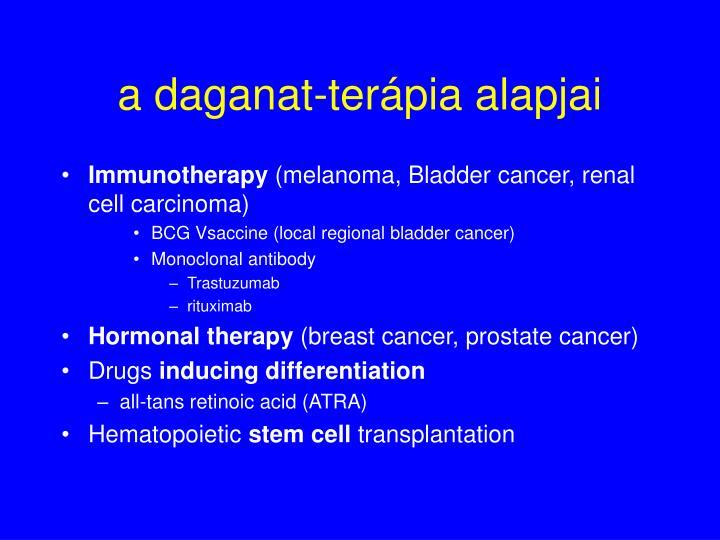 a daganat-terápia alapjai