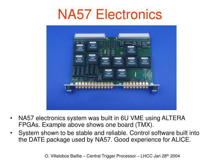 NA57 Electronics