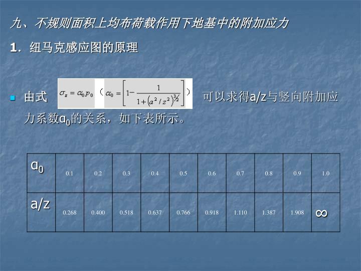 九、不规则面积上均布荷载作用下地基中的附加应力