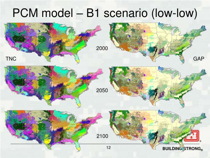 PCM model – B1 scenario (low-low)