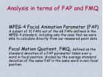 analysis in terms of fap and fmq