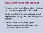 goals and research context