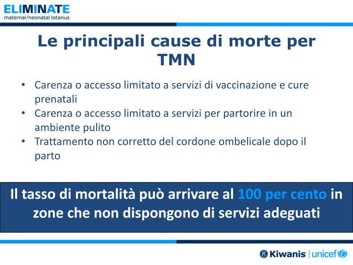 Le principali cause di morte per TMN