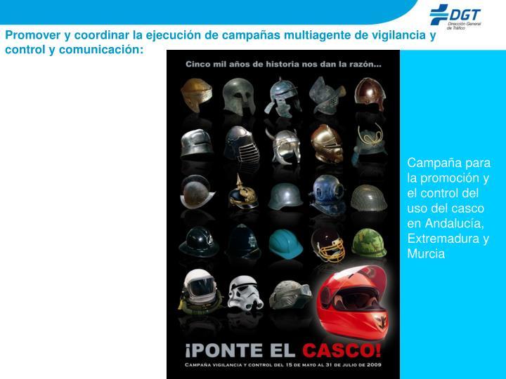 Campaña para la promoción y el control del uso del casco en Andalucía, Extremadura y Murcia
