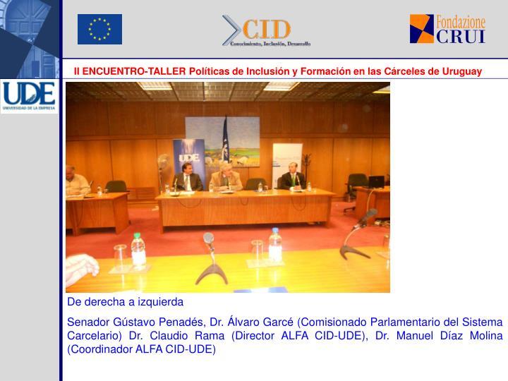 II ENCUENTRO-TALLER Políticas de Inclusión y Formación en las Cárceles de Uruguay