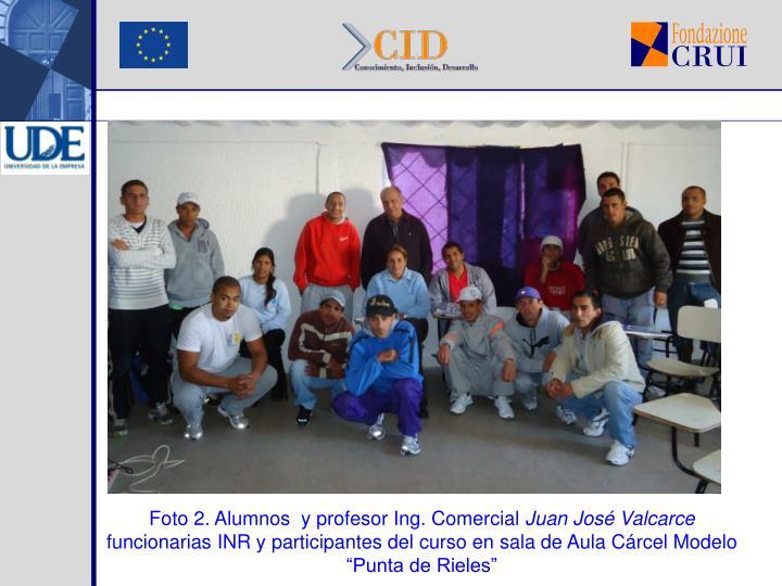 Foto 2. Alumnos  y profesor Ing. Comercial