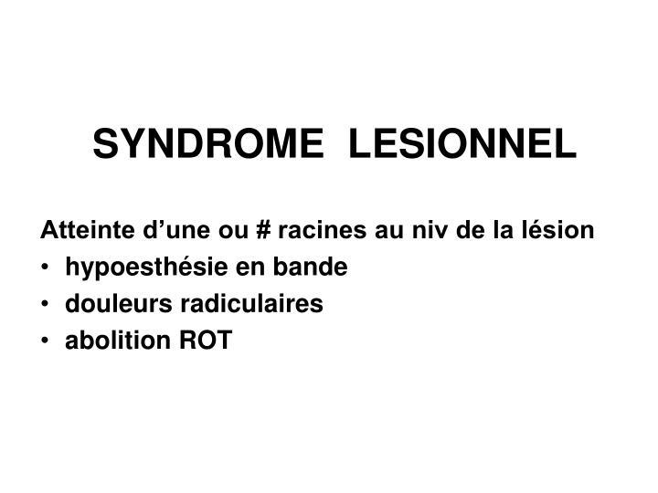 SYNDROME  LESIONNEL