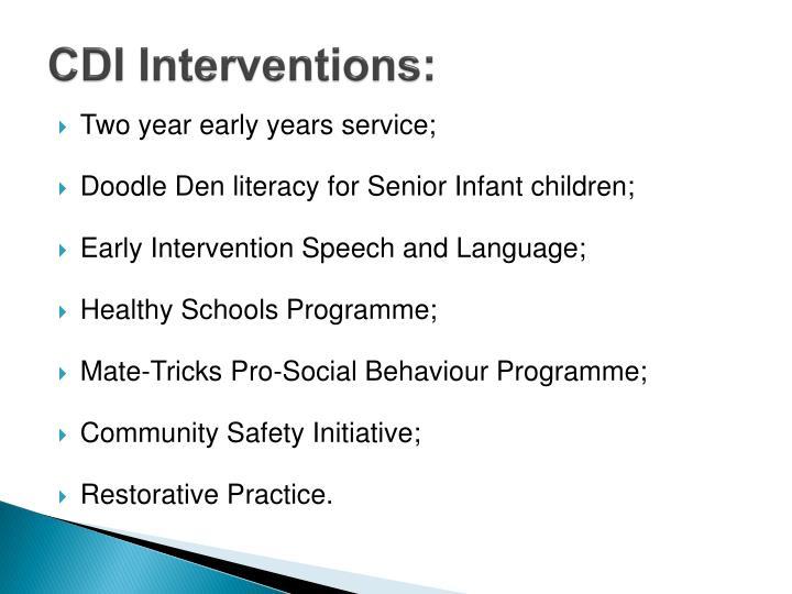 CDI Interventions: