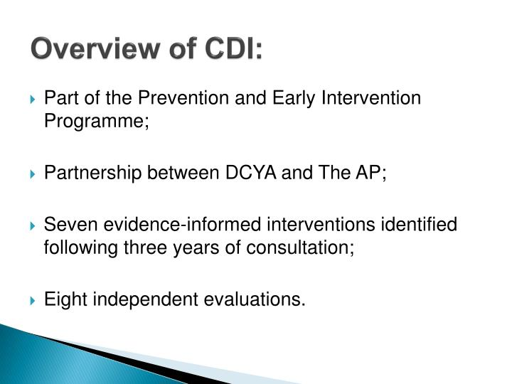 Overview of cdi
