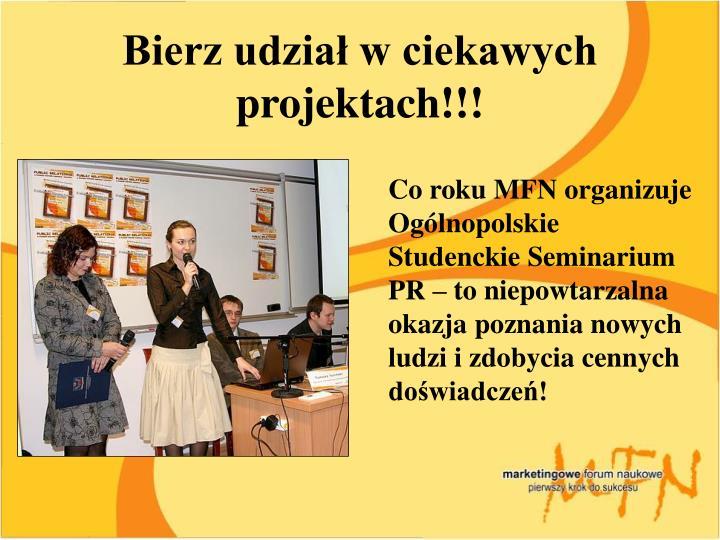 Bierz udział w ciekawych projektach!!!