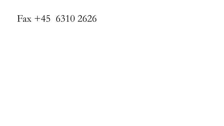 Fax +45  6310 2626