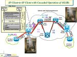 ip client to ip client with cascaded operation of olsrs