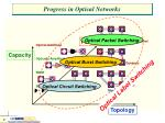 progress in optical networks