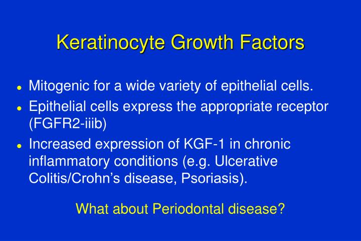 Keratinocyte Growth Factors