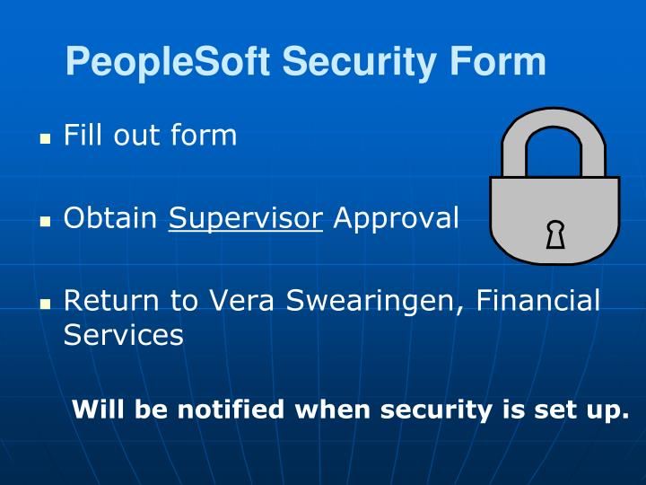 PeopleSoft Security Form