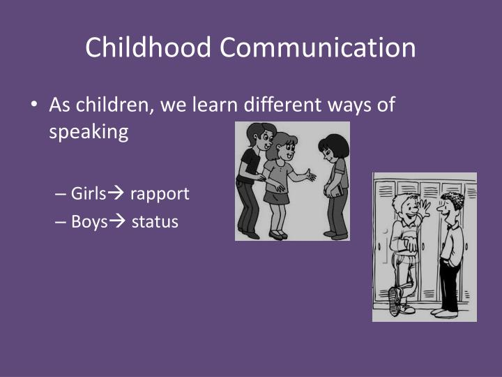 Childhood Communication