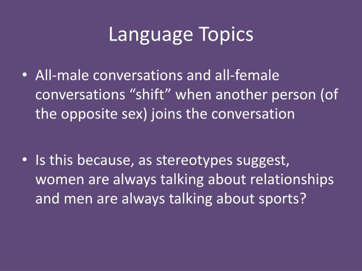 Language Topics