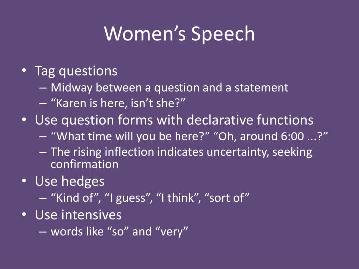 Women's Speech