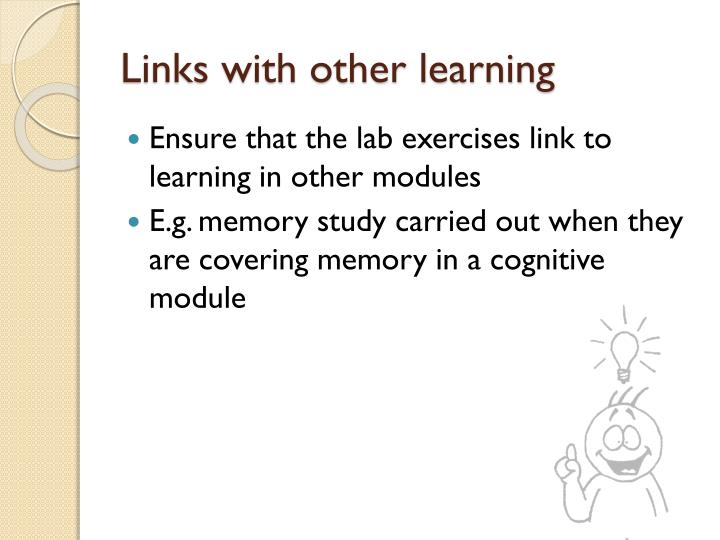 Links with other learning