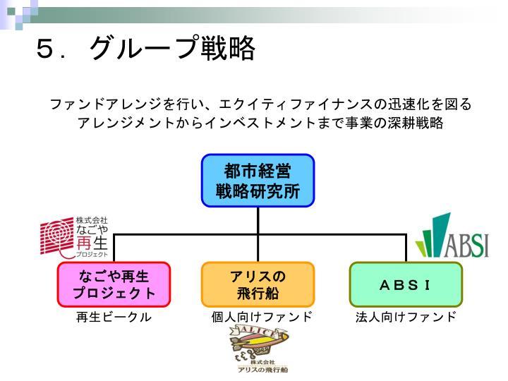 5.グループ戦略