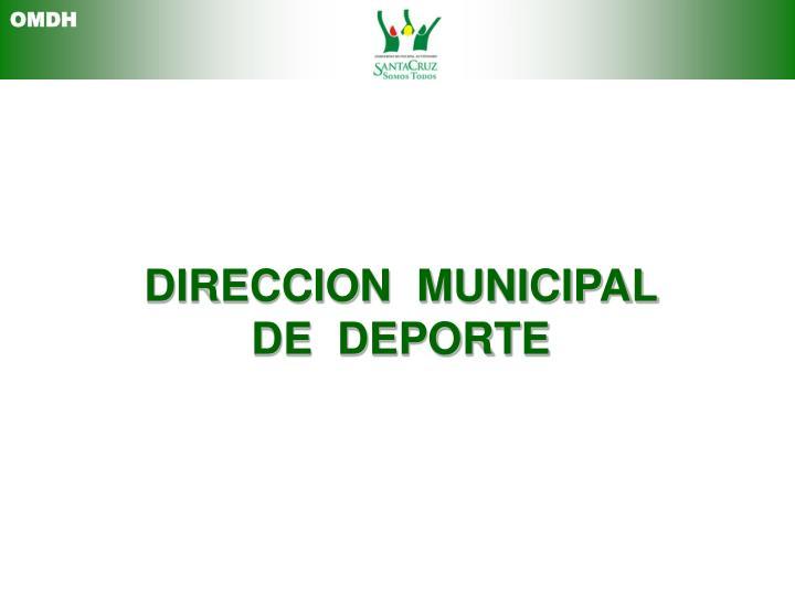 DIRECCION  MUNICIPAL