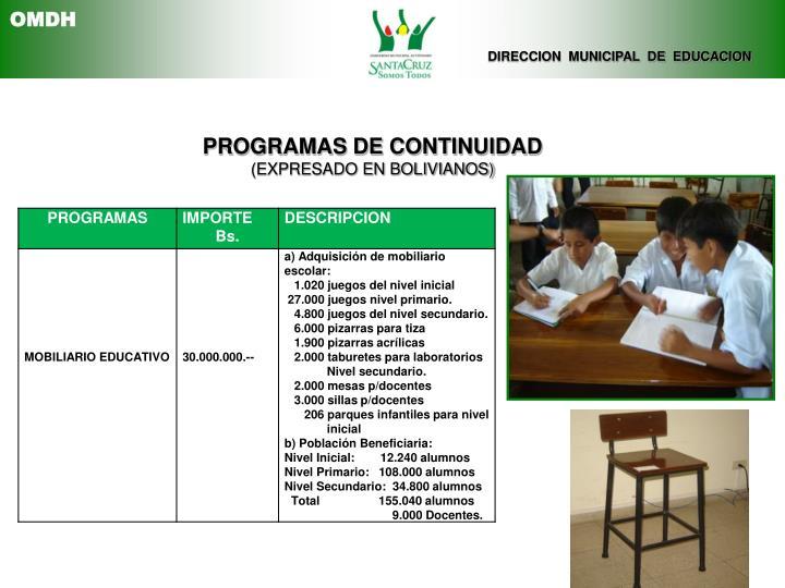 DIRECCION  MUNICIPAL  DE  EDUCACION