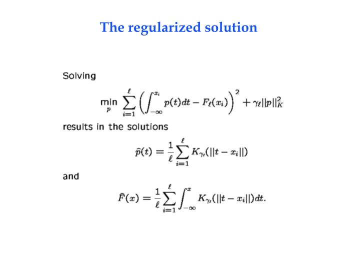 The regularized solution