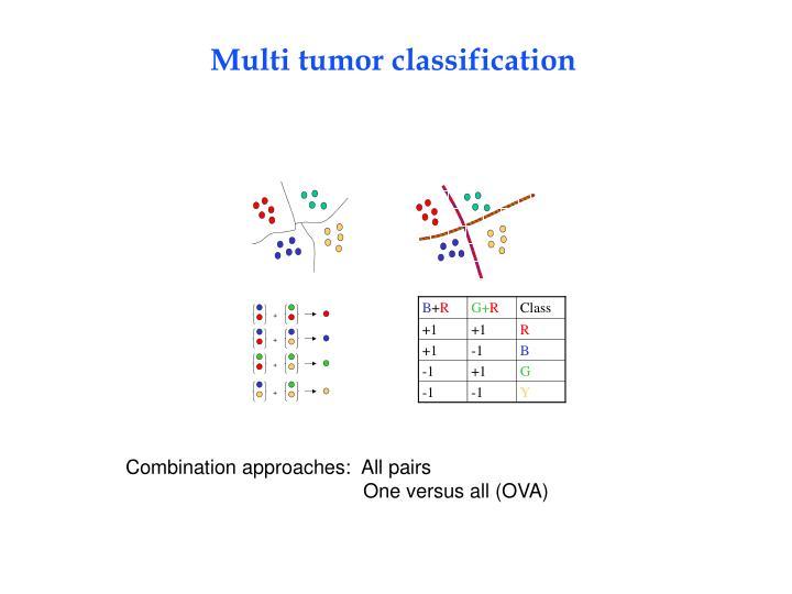 Multi tumor classification