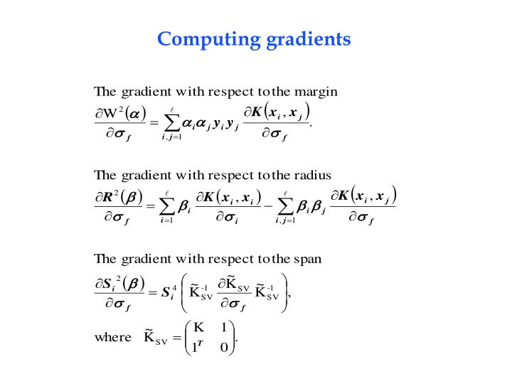 Computing gradients
