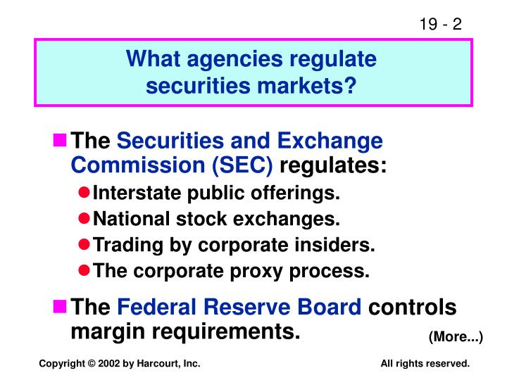 What agencies regulate